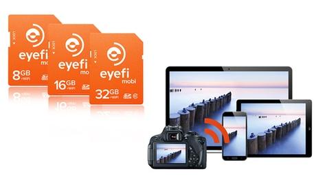 Scheda di memoria SDHC con WiFi Eyefi Mobi
