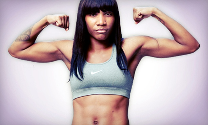 Hip + Fit - Multiple Locations: 5 or 10 Women's Kickboxing Fitness Classes at Hip + Fit (Up to 75% Off)
