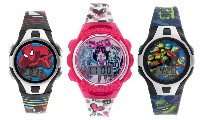 Groupon Goods: Frozen, Minion, Spiderman, TMNT or Monster High Digital Watch for Kids (Shipping Included)