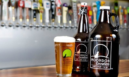 $19.99 for a Filled 64-oz. Growler and One Pint or Beer Flight at Moondog Growlers (Up to $29.75 Total Value)
