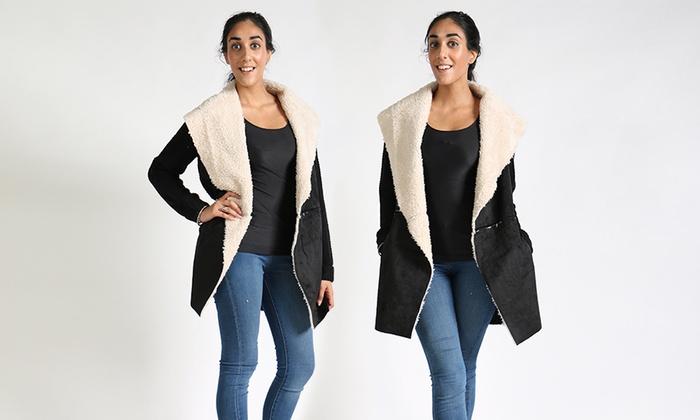 419160e0230 Women s Faux Shearling Coats in Plus Sizes (Sizes 1X   3X)