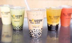 daKuppe tea & coffee Lounge: Café Food and Drinks at daKuppe Tea & Coffee Lounge (43% Off). Two Options Available.