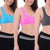 Women's Racerback Shimmer Sports Bra (4-Pack)