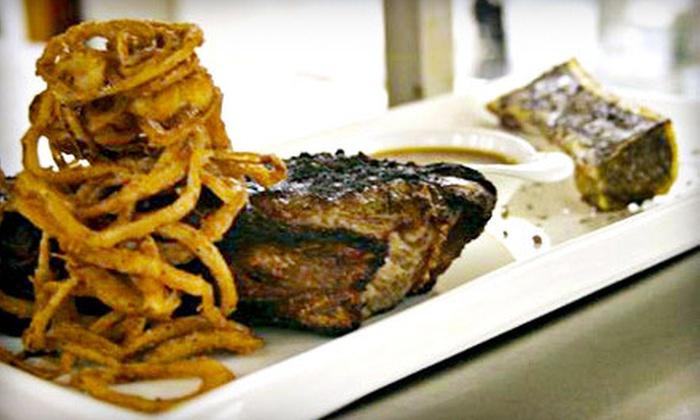 CY Steak - CY Steak: Five-Course Upscale Dinner with Cabaret Entertainment for Two at CY Steak (Half Off)