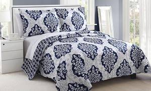 Juliet Damask Reversible Quilts (3-piece)