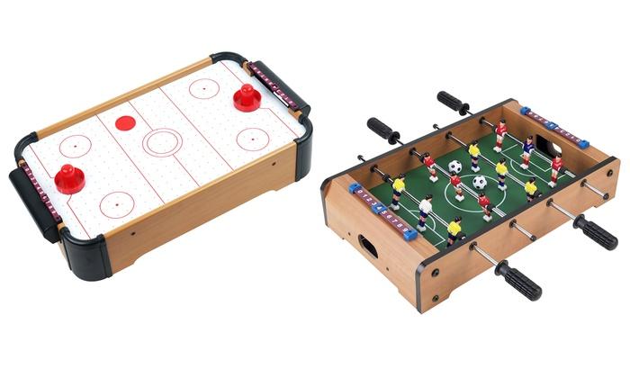 Mini Air Hockey Foosball Or Pool Tabletop Games Groupon