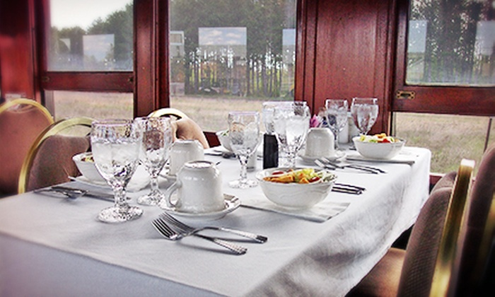 Wisconsin Great Northern Railroad - Spooner: $179 for a Dinner-Train Bed-and-Breakfast Package for Two from Wisconsin Great Northern Railroad ($299 Value)