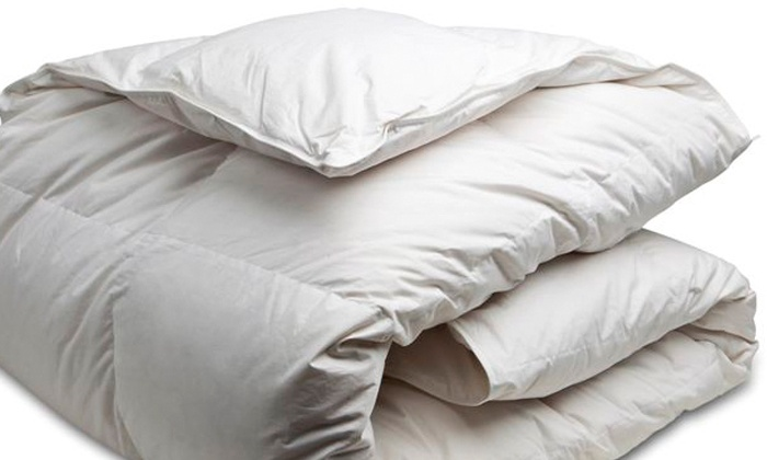 Canadian Down & Feather Company - Toronto: White Goose-Feather Duvet for a Twin, Double, Queen, or King Bed (Up to 61% Off)