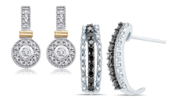 5345accc2b2d 1 10 or 1 3 CTTW Diamond Earring in 10K White Gold