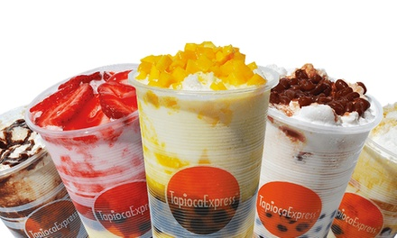 $12 for Punch Card for Four Visits, Each Good for $5 Worth of Drinks at Tapioca Express ($20 Value)