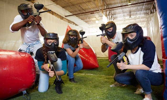 Richmond Indoor Paintball - Richmond City Centre: Paintball Package for One or Four with Gear and Paintballs at Richmond Indoor Paintball