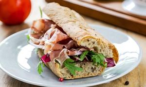 """Pane & caffè """"Luciani"""": Menu panino o focaccia a scelta con insalata e birra per 2 o 4 persone da Pane & Caffè Luciani(sconto fino a 62%)"""