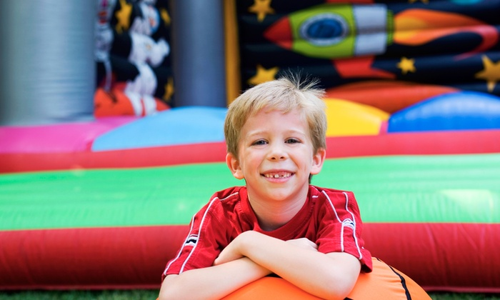 """The Jump Palace - The Jump Palace: Five Visits for One or Two Kids Under or Over 36"""" at The Jump Palace (Up to 56% Off)"""