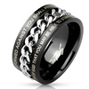 Men's Stainless Steel Bible Verse Chain Ring