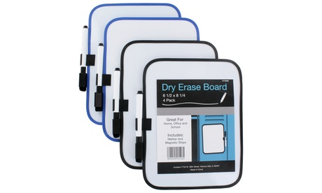 "6""x8"" Dry-Erase Whiteboards (4-Pack) 5b0b57a2-1d58-11e7-afb2-00259069d7cc"