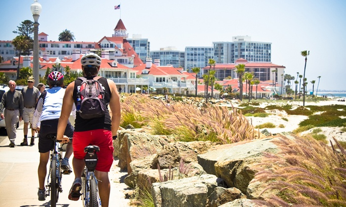Bike & Kayak Tours - Multiple Locations: 90-Minute Guided Bike Tour of the La Jolla Loop or Coronado Downtown for Two from Bike & Kayak Tours (54% Off)