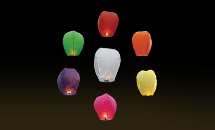 10-Pack of Chinese Sky Fly Fire Lanterns