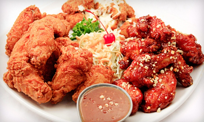 Honey Pig Chicken - Woodlawn: $15 for a Korean Combo Meal with Fried Chicken and Pork Cutlet for Two at Honey Pig Chicken ($30 Value)