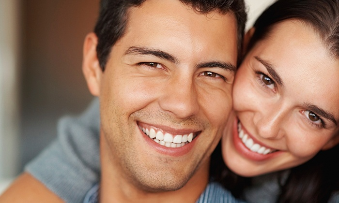LED Teeth Whitening for One or Two at Omega Laser (Up to 82% Off), 8 Locations Available