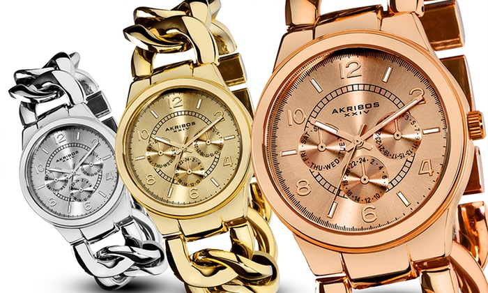 Akribos XXIV Women's Multifunction Watches: Akribos XXIV Women's Multifunction Watches. Multiple Styles Available.