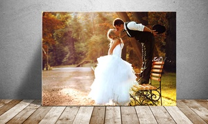 Up to 86% Off a Custom Photo Print on Metal with Shipping