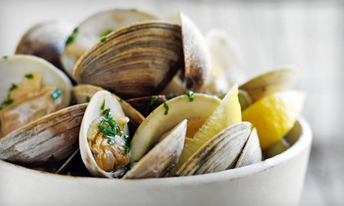 Brasserie Julien - Yorkville,Uptown,Upper East Side: $35 for Two Dozen Stuffed Mussels, Oysters, and Clams and Two Signature Cocktails at Brasserie Julien (Up to $93 Value)