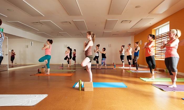Moksha Yoga Bedford - Bedford: 30 Days of Unlimited Yoga for One or Two at Moksha Yoga Bedford (Up to 82% Off)