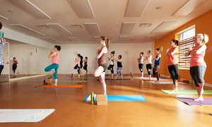 Moksha Yoga Bedford: One Month of Unlimited Yoga or 10 Drop-In Yoga Classes at Moksha Yoga Bedford (Up to 78% Off)