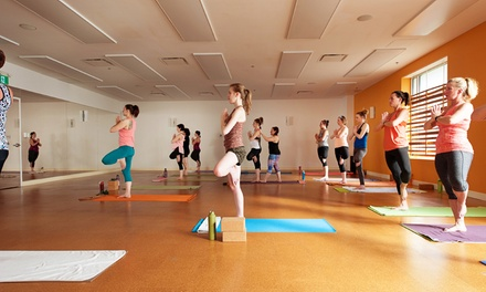 One Month of Unlimited Yoga or 10 Drop-In Yoga Classes at Moksha Yoga Bedford (Up to 78% Off)