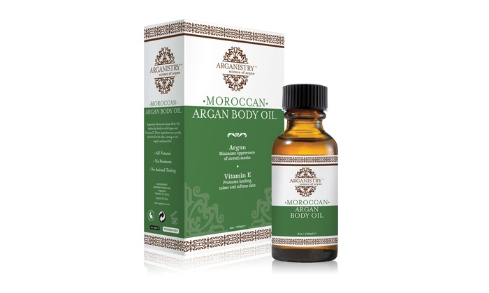 Arganistry Moroccan Argan Body Oil 4oz