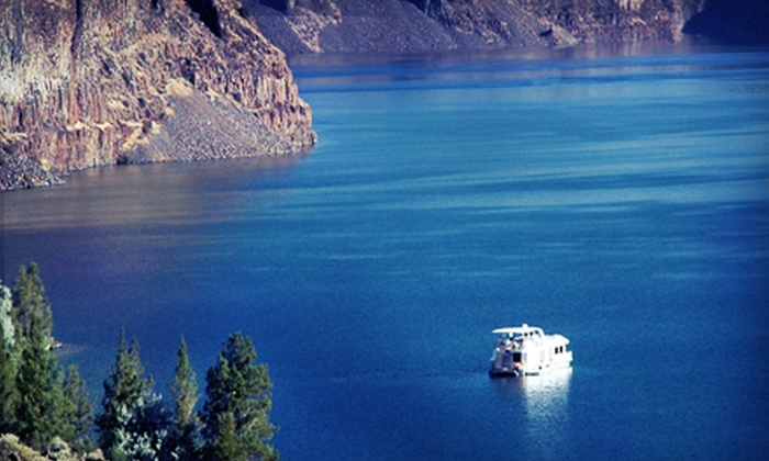 Cove Palisades Resort and Lake Billy Chinook Houseboats - Lake Billy Chinook: Houseboat Rental from Cove Palisades Resort and Lake Billy Chinook Houseboats (Half Off). Two Options Available.