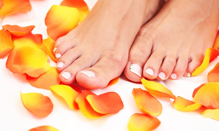 Celebrity Nails and Spa 3 - Tenafly: Mani-Pedis or Full-Body Massage at Celebrity Nails and Spa 3 (Up to 55% Off). Three Options Available.