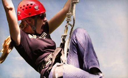 2 Ziplines Rides (a $50 value) - Myrtle Beach Zipline Adventures in Myrtle Beach