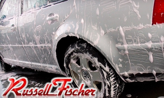 Russell Fischer - Multiple Locations: $19 for a Blue Coral Supreme Car Wash & Wax at Russell Fischer Car Wash (Up to $37.99 Value). Choose from Four Locations.