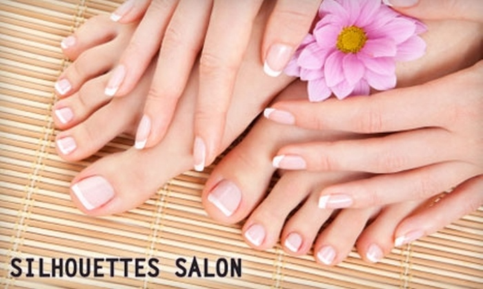Silhouettes Salon - San Buenaventura (Ventura): $25 for a Mani-Pedi at Silhouettes Salon ($50 Value)