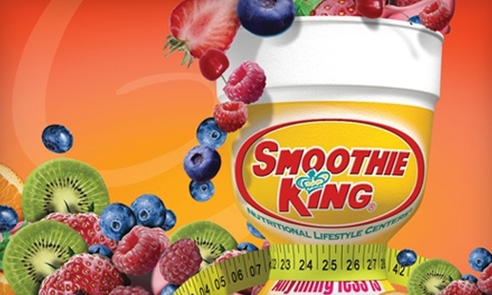 Smoothie King - Northwest Raleigh: $5 for One Medium and One Small Smoothie at Smoothie King ($12.16 Value).