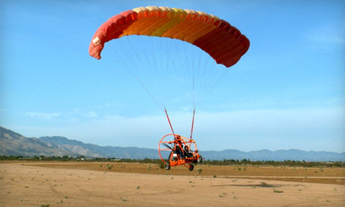 Inland Paraflite - Los Angeles: Introductory Paraplane Flight at Inland Paraflite (Up to 51% Off). Two Options Available.