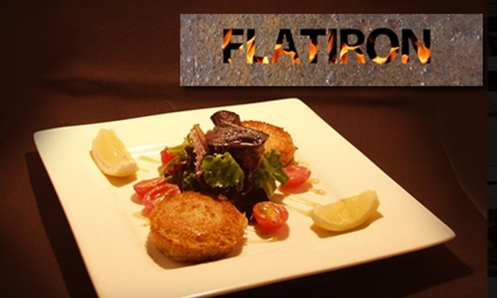 FlatIron Grill - Calistoga: $20 for $40 Worth of Gourmet Grilled Cuisine at FlatIron Grill