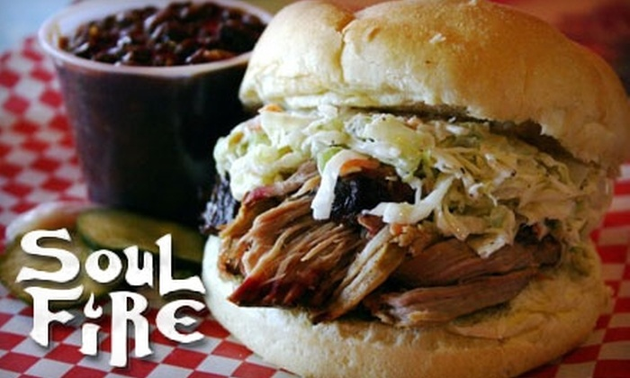 SoulFire Barbeque - Brighton: $15 for $30 Worth of Smoked Meat and Drinks at SoulFire Barbeque in Allston