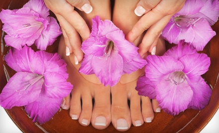 9005 Leslie St., Ste. 204 in Richmond Hill: Mani-Pedi Package (a $78 value) - Vaccaro Angel Beauty International Spa in Richmond Hill