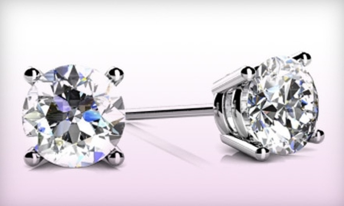 Nikash Diamonds: 0.25-Carat or 1.5-Carat Diamond Stud Earrings from Nikash Diamonds
