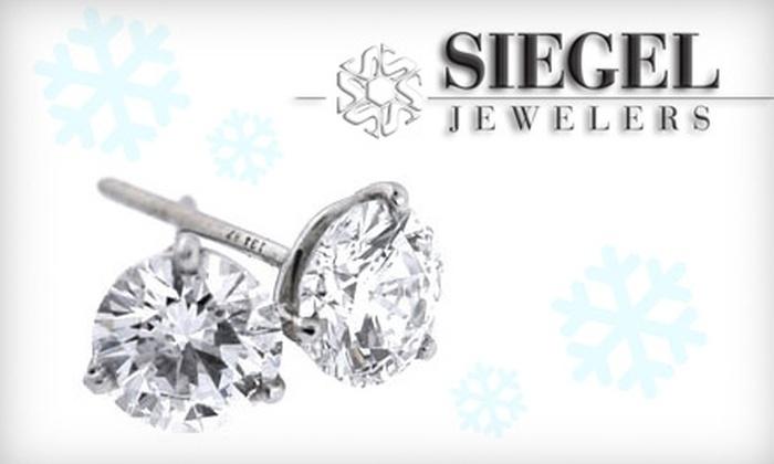 Siegel Jewelers - Kentwood: $99 for 1/5-Carat Diamond Stud Earrings at Siegel Jewelers ($200 Value)