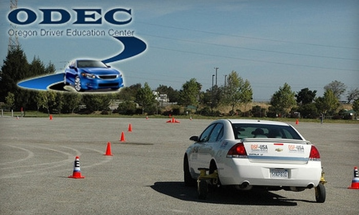 Oregon Driver Education Center - Keizer: $69 for One 90-Minute Xtreme Driver Control Course at Oregon Driver Education Center ($149 value)