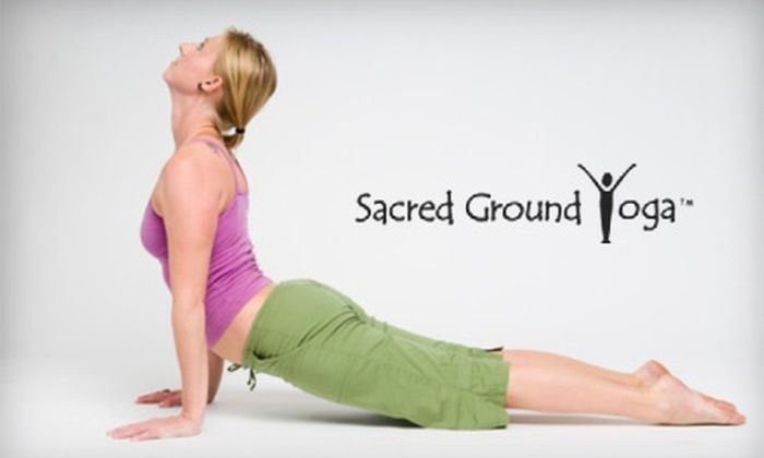 Sacred Ground Yoga - Multiple Locations: $30 for One Month of Unlimited Yoga at Sacred Ground Yoga ($65 Value)