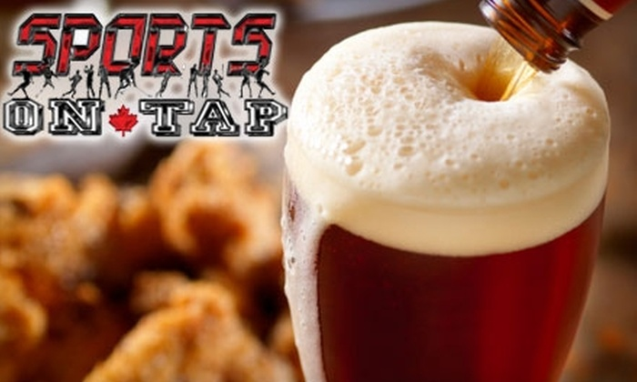Sports on Tap - Saskatoon: $12 for $25 Worth of Pub Grub and Drinks at Sports on Tap