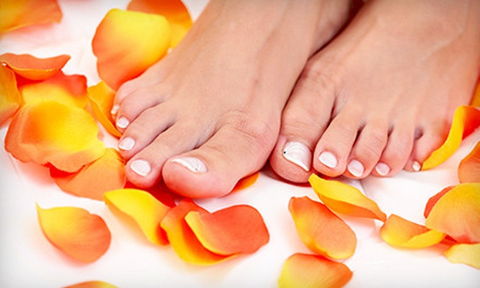 No Limits Hair & Style Salon - Richmond Place: Mani-Pedi or Package of Three Mani-Pedis at No Limits Hair & Style Salon (Up to 53% Off)