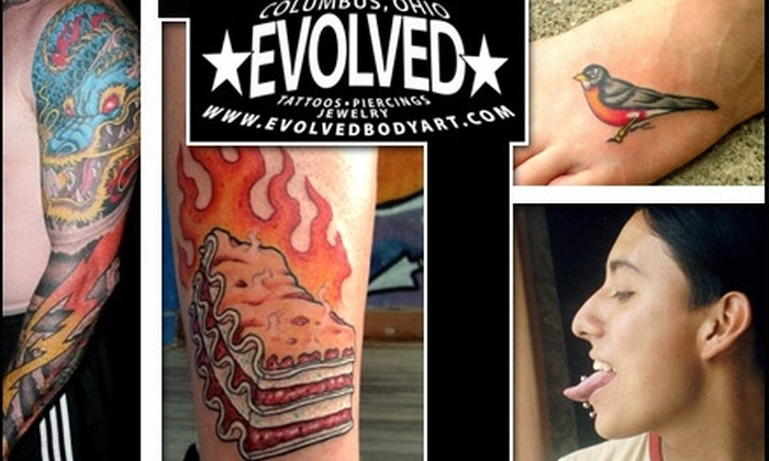 Evolved - Multiple Locations: $49 for $100 Worth of Tattoos, Piercings, Jewelry, and Products at Evolved