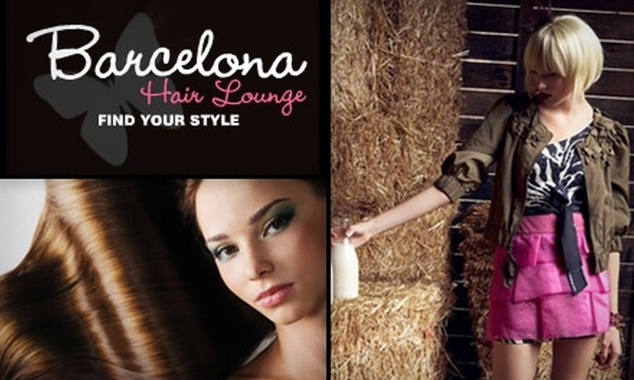 Barcelona Hair Lounge - College Hill: $50 for Women's Cut and Color at Barcelona Hair Lounge