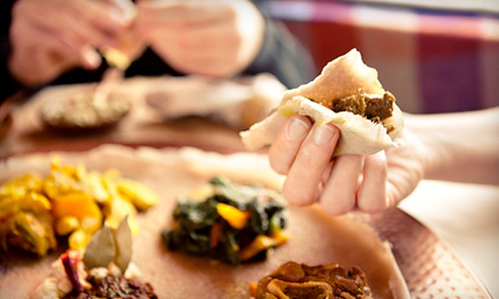 Assab Eritrean Restaurant - Laurel Heights: East African Meal for Two or Four with Entrees and Honey Wine at Assab Eritrean Restaurant (Up to 56% Off). Four Options Available.