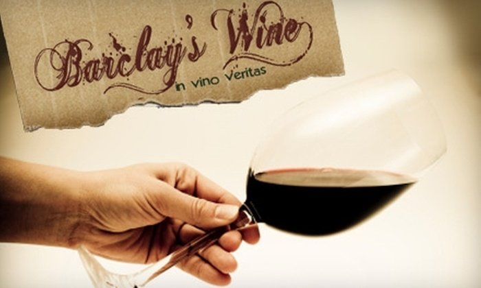 Barclay's Wine - Washington DC: $25 for $75 Worth of Wine from Barclay's Wine